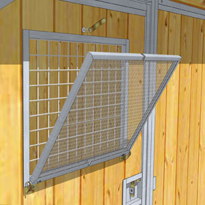 Chenil super leveur junior 940552 chenil et niche - Porte de jardin grillage ...